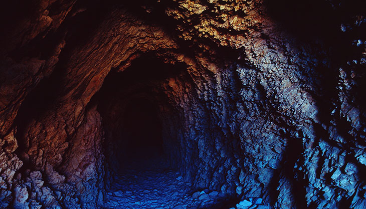A mine in Death Valley USA - secret and potentially dangerous