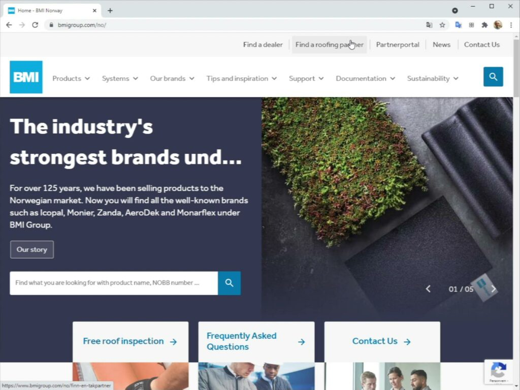 A website that sells - BMI Norway was designed that way from the start